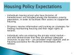 housing policy expectations1