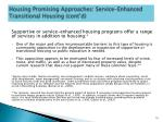 housing promising approaches service enhanced transitional housing cont d