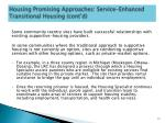housing promising approaches service enhanced transitional housing cont d1