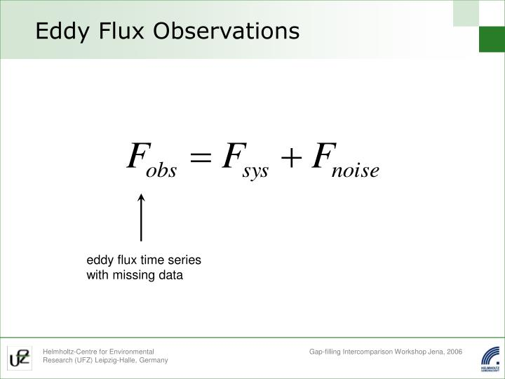 Eddy flux observations