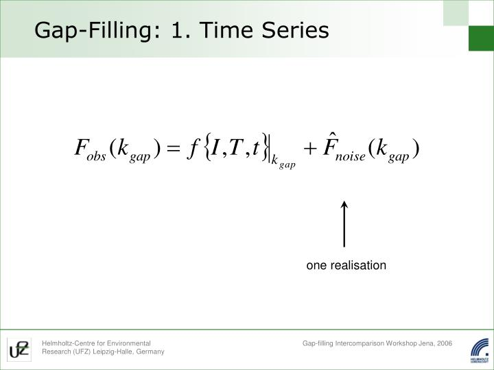 Gap-Filling: 1. Time Series
