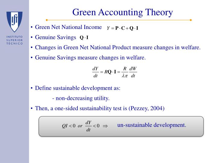 Green Accounting Theory