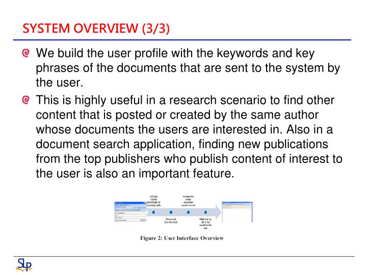 SYSTEM OVERVIEW (3/3)