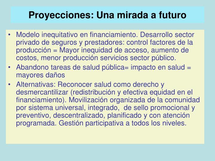 Proyecciones: Una mirada a futuro
