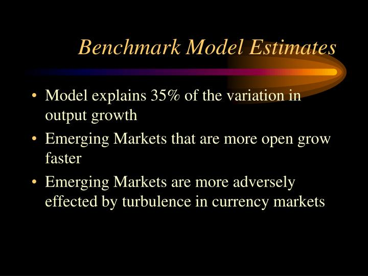 Benchmark Model Estimates
