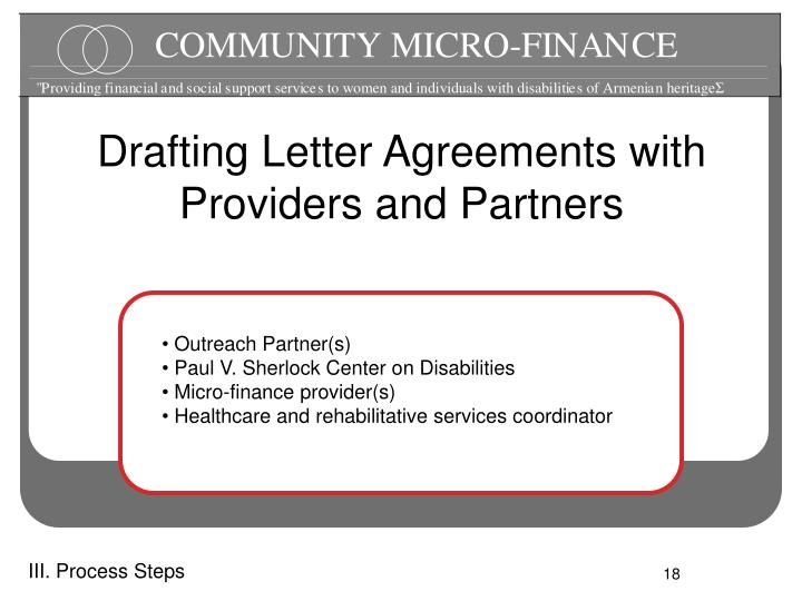 Drafting Letter Agreements with Providers and Partners