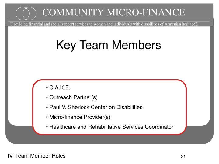Key Team Members
