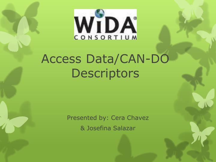 Access Data/CAN-DO Descriptors
