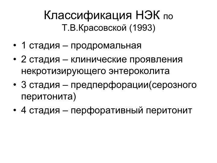 Классификация НЭК