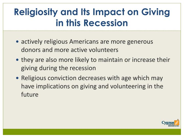 actively religious Americans are more generous donors and more active volunteers