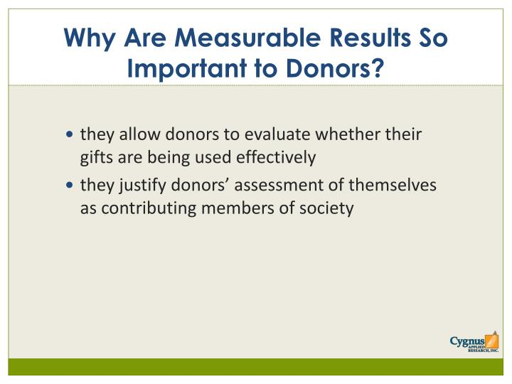Why Are Measurable Results So Important to Donors?