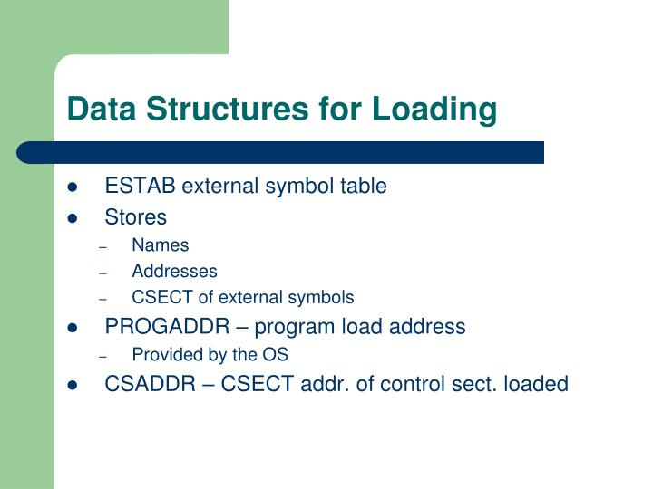 Data Structures for Loading
