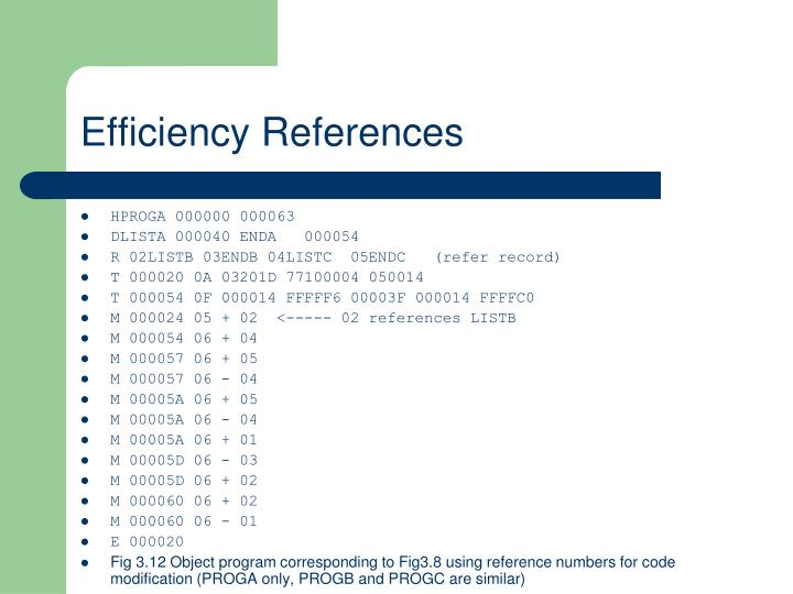 Efficiency References