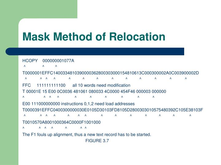 Mask Method of Relocation