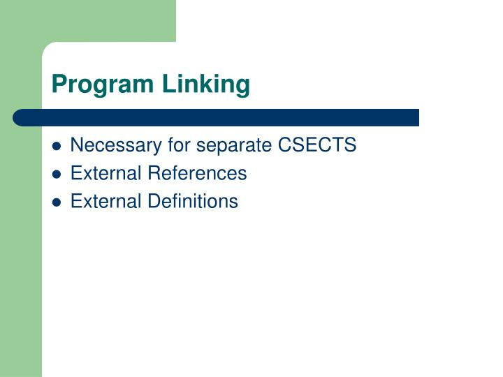Program Linking
