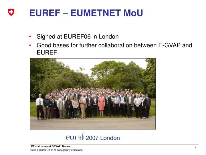 EUREF – EUMETNET MoU
