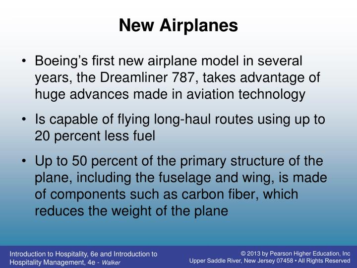 New Airplanes