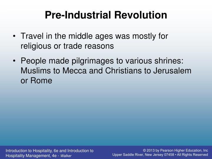 Pre-Industrial Revolution