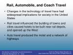 rail automobile and coach travel