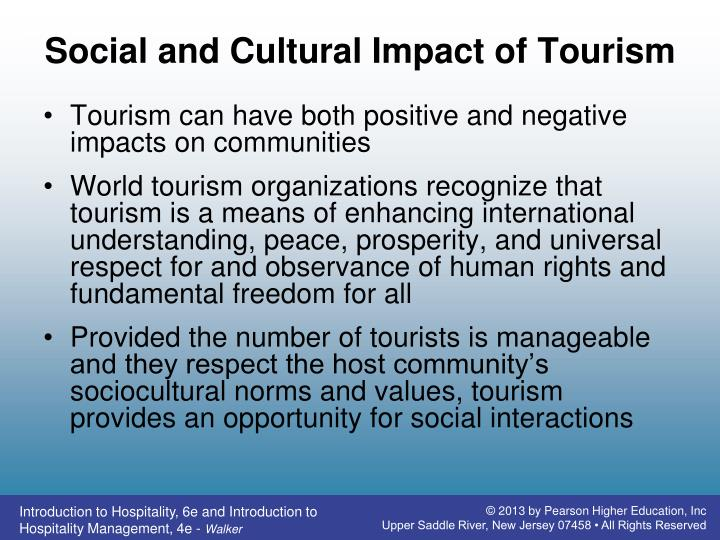 Social and Cultural Impact of Tourism
