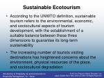 sustainable ecotourism