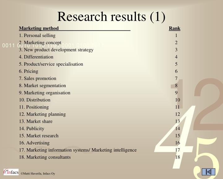 Research results (1)
