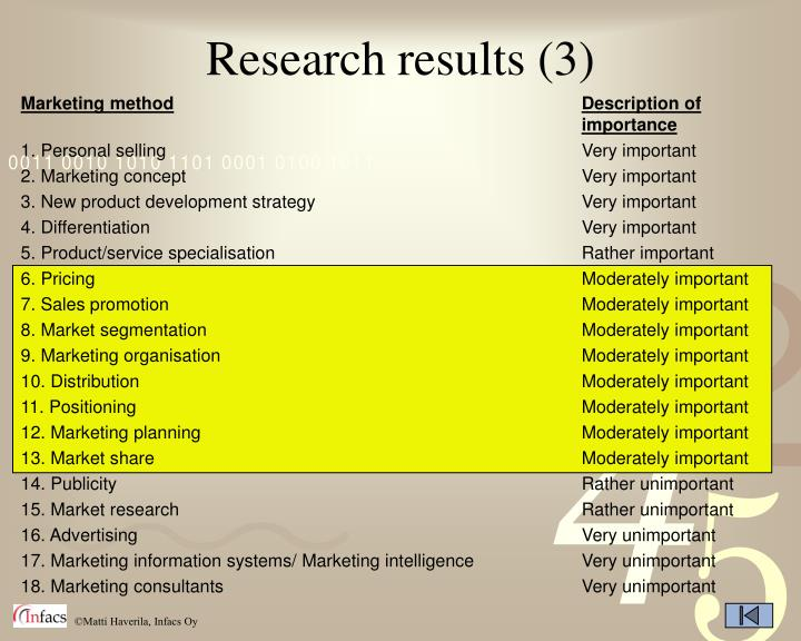 Research results (3)