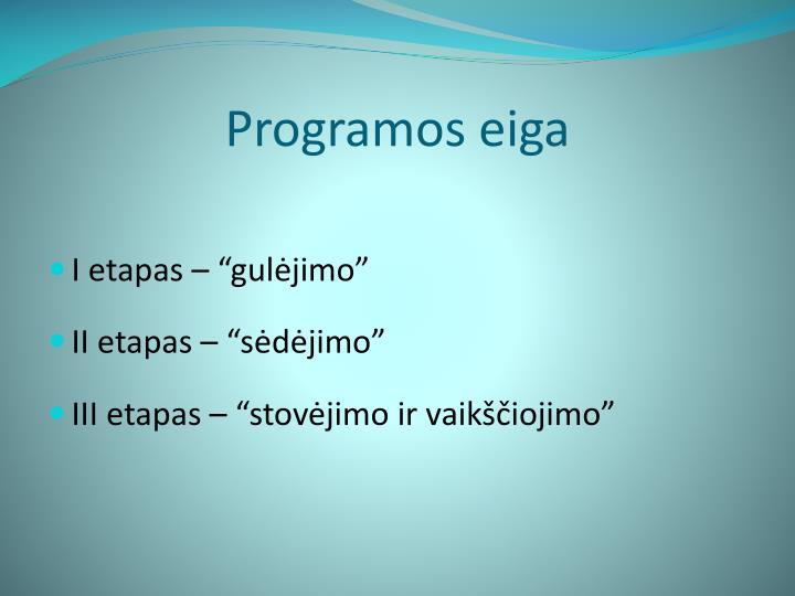 Programos eiga