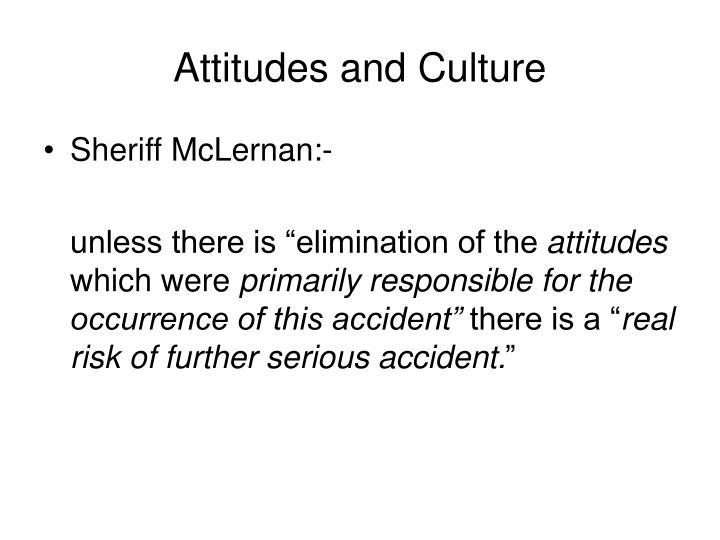 Attitudes and Culture