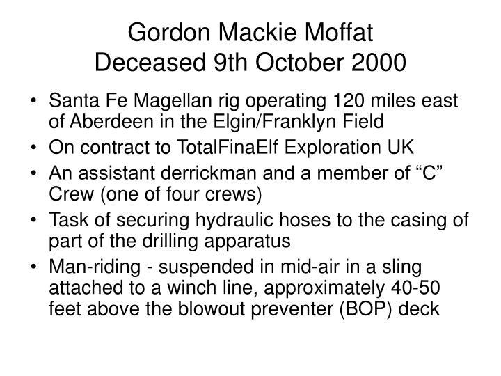 Gordon Mackie Moffat