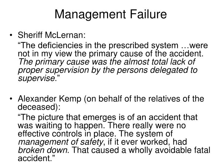 Management Failure