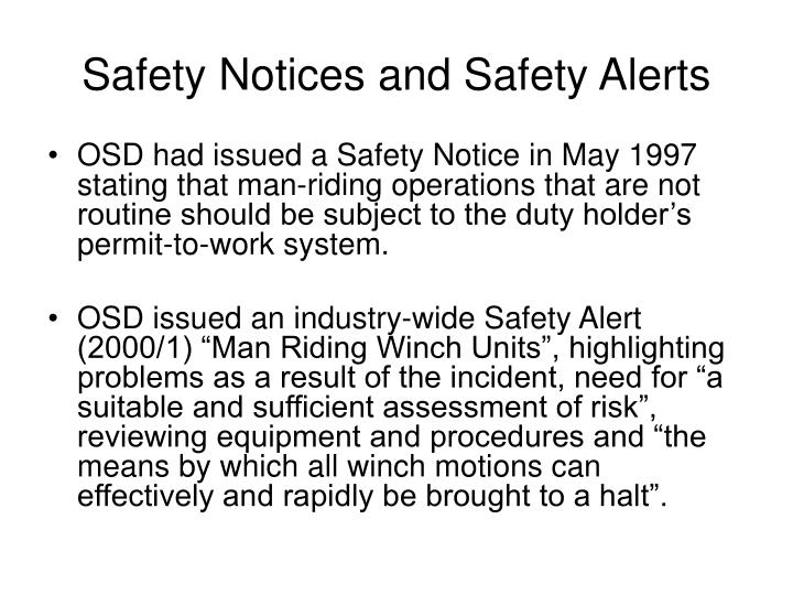 Safety Notices and Safety Alerts
