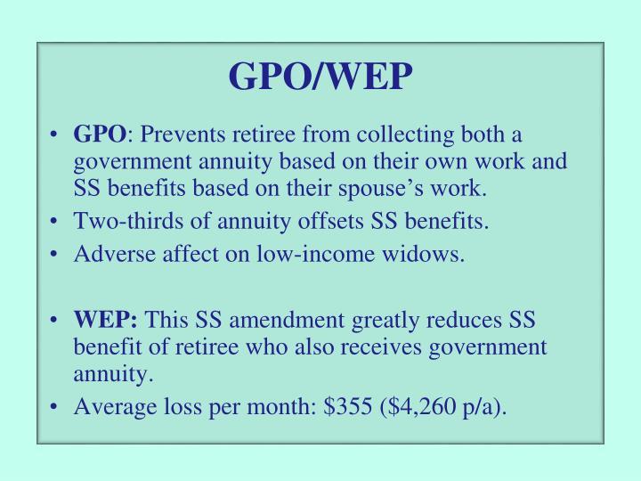 GPO/WEP