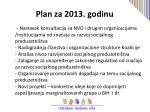 plan za 2013 godinu