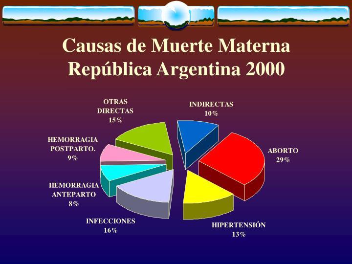 Causas de Muerte Materna