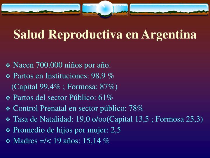 Salud Reproductiva en Argentina