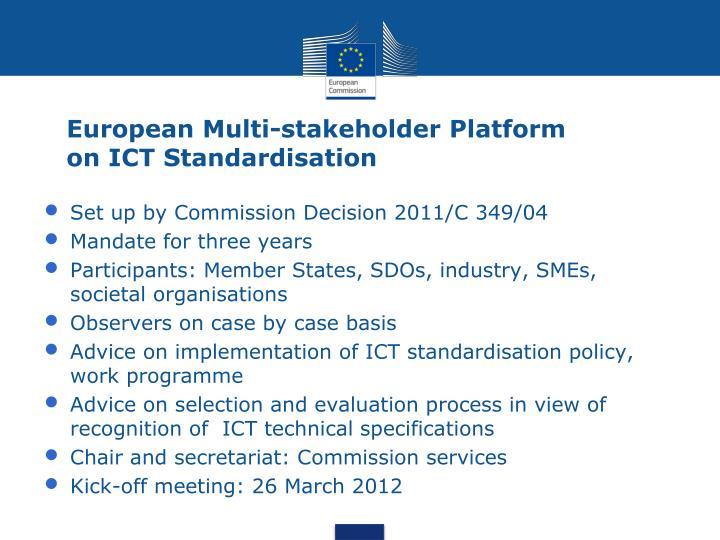 European Multi-stakeholder Platform