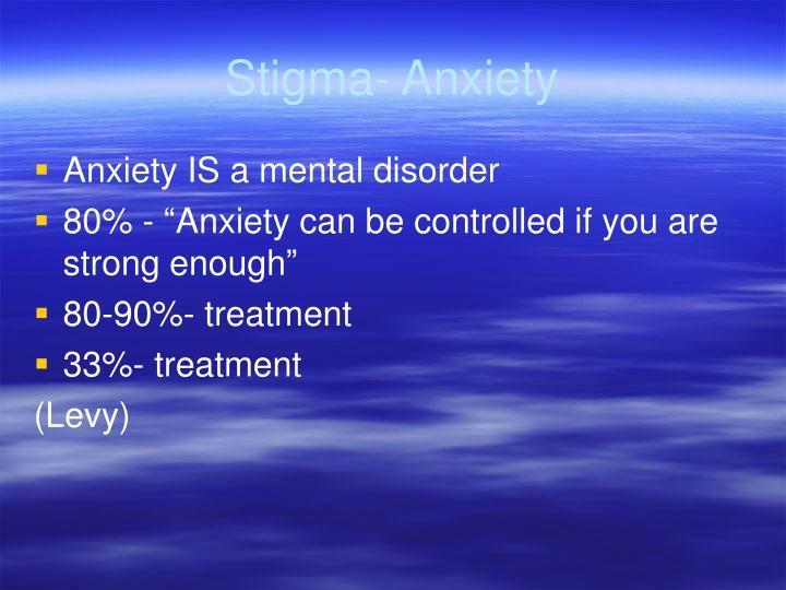 Stigma- Anxiety