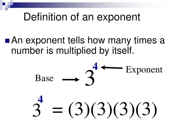 Definition of an exponent