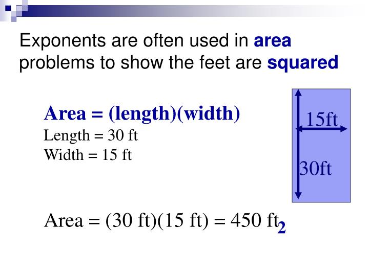 Exponents are often used in