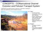 concepts conservational channel evolution and pollutant transport system