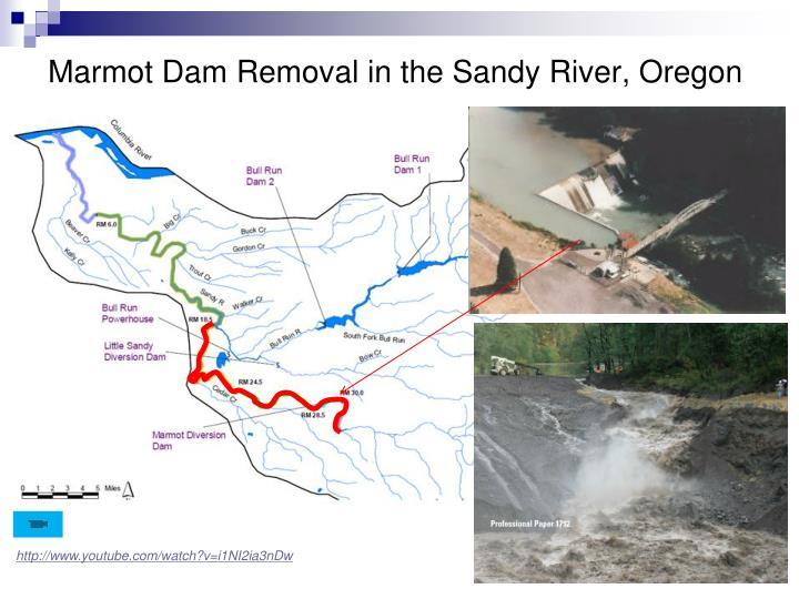 Marmot Dam Removal in the Sandy River, Oregon