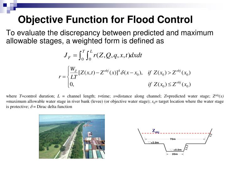 Objective Function for Flood Control