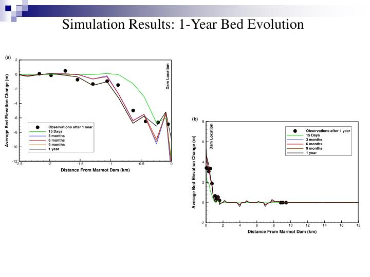 Simulation Results: 1-Year Bed Evolution