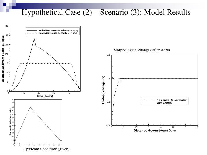 Hypothetical Case (2) – Scenario (3): Model Results