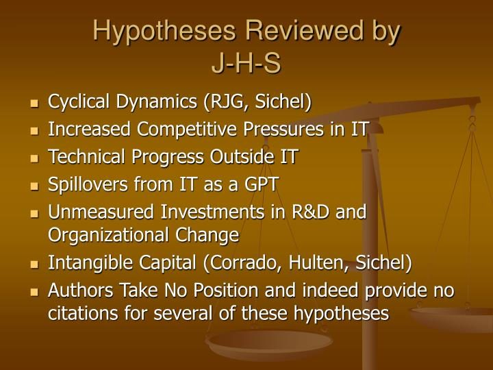 Hypotheses Reviewed by