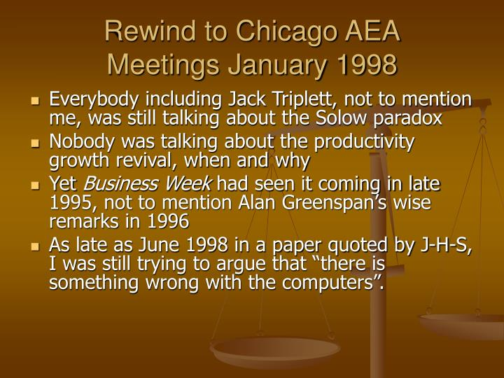 Rewind to Chicago AEA