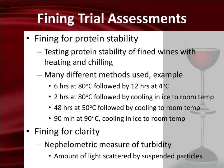 Fining Trial Assessments