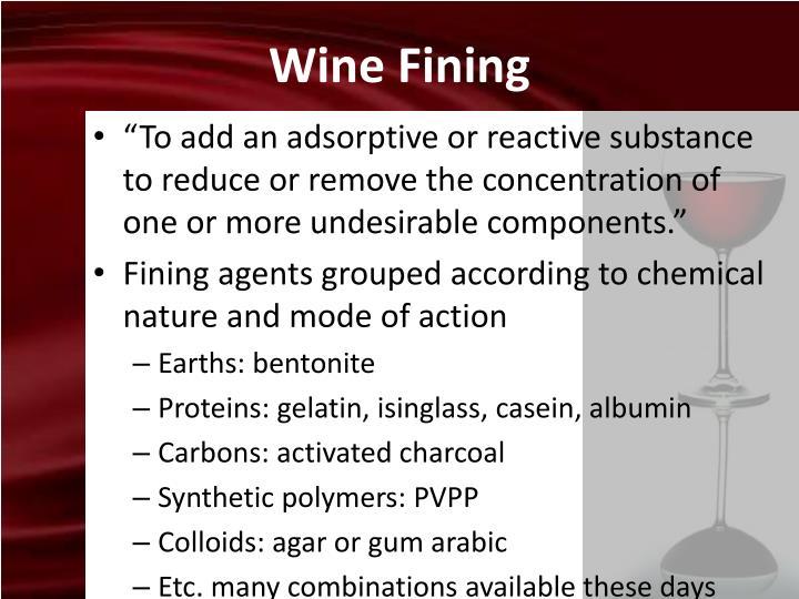 Wine Fining