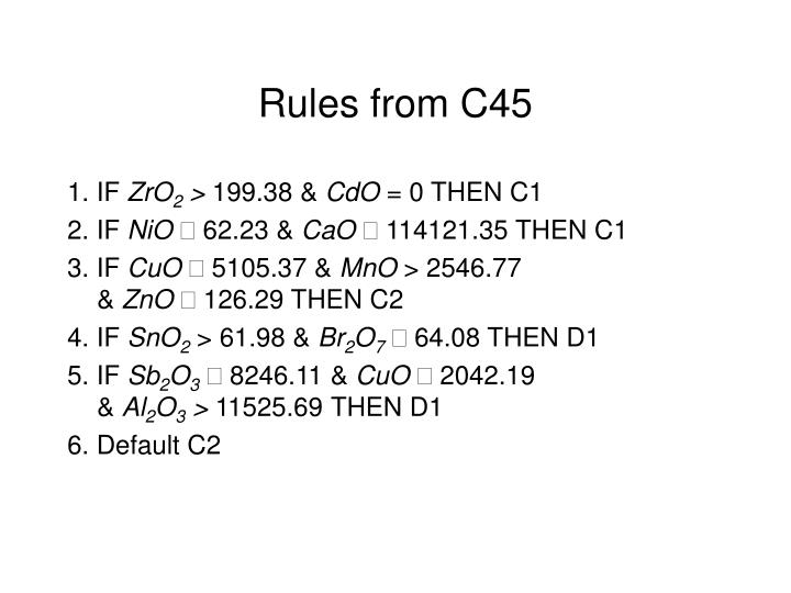 Rules from C45